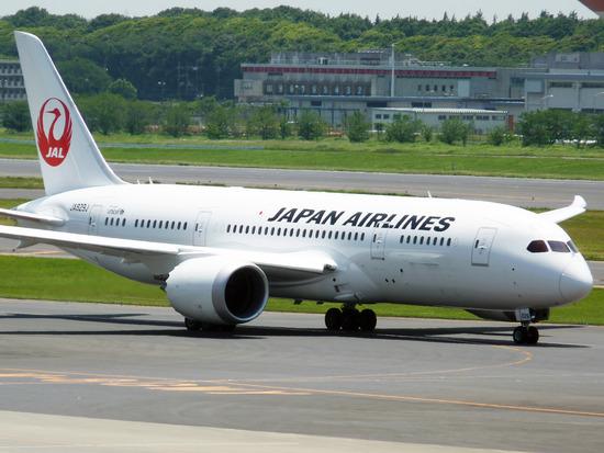 JAL(ボーイング787-8型機)