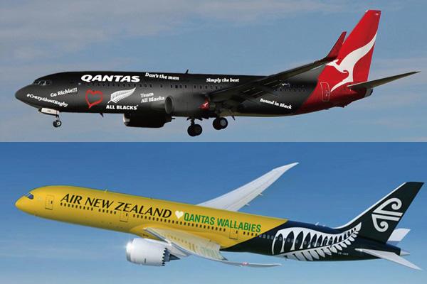 カンタス航空とニュージーランド航空がラグビーワールドカップ決勝で賭け 負けたら勝者の制服着用