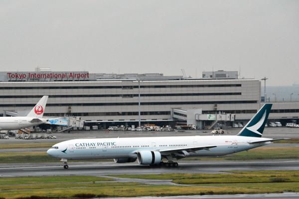 キャセイパシフィック航空、新塗装機材を東京/羽田線に世界初投入