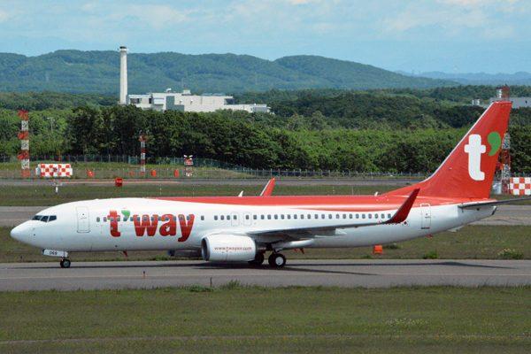 ティーウェイ航空のボーイング737-800型機