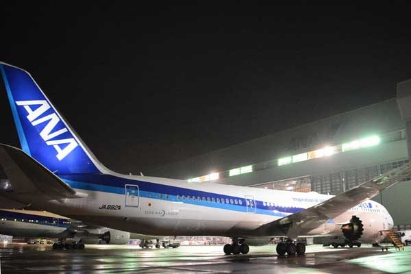 全日本空輸(ボーイング787-9型機)