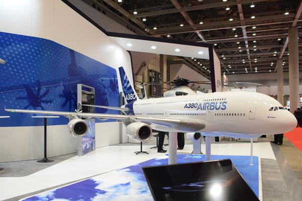 2016年国際航空宇宙展」開幕、エアバスやボーイングも出展 MRJはモック ...