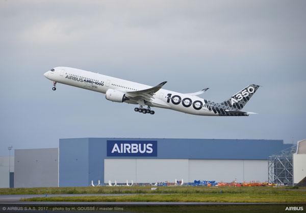 エアバスA350-1000型機(提供:エアバス)