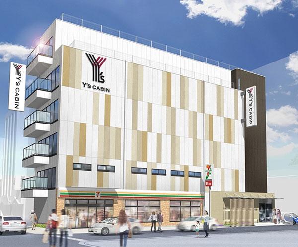 長谷川ホテル&リゾート、大阪・難波に「ワイズキャビン大阪難波」を8月9日開業
