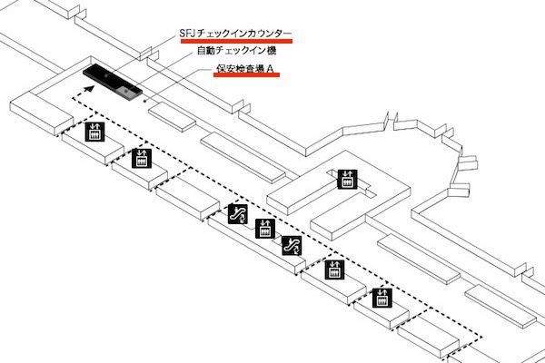 スターフライヤー 羽田空港 保安検査場