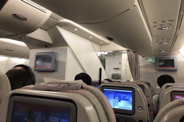 エミレーツ航空 搭乗記 エコノミークラス