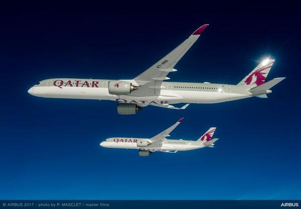 カタール航空(エアバスA350型機)