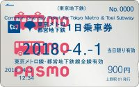 東京メトロ・都営地下鉄共通1日乗車券(PASMO)