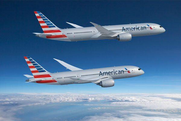 アメリカン航空(ボーイング787-8型機、ボーイング787-9型機)