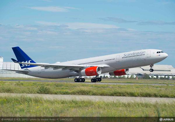 スカンジナビア航空(エアバスA330-300型機)