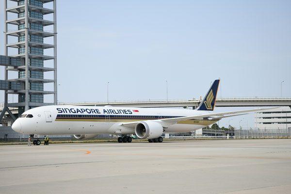 シンガポール航空(ボーイング787-10型機)