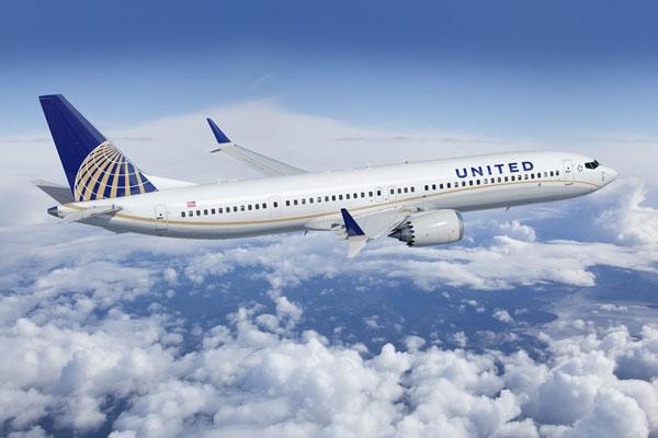 ユナイテッド航空(ボーイング737 MAX 9)