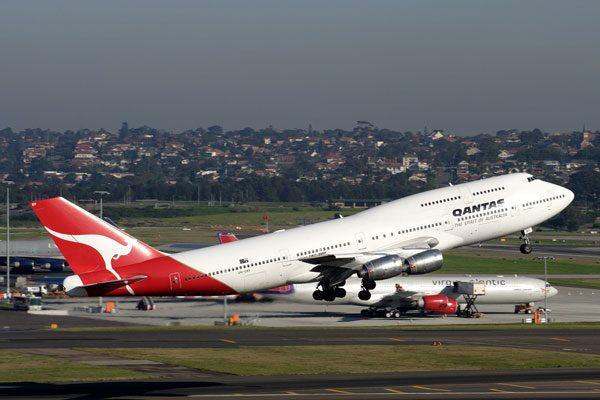 カンタス航空(ボーイング747-400型機)