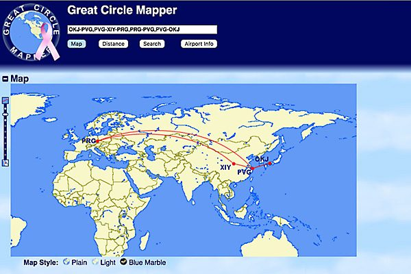Great Circle Mapper