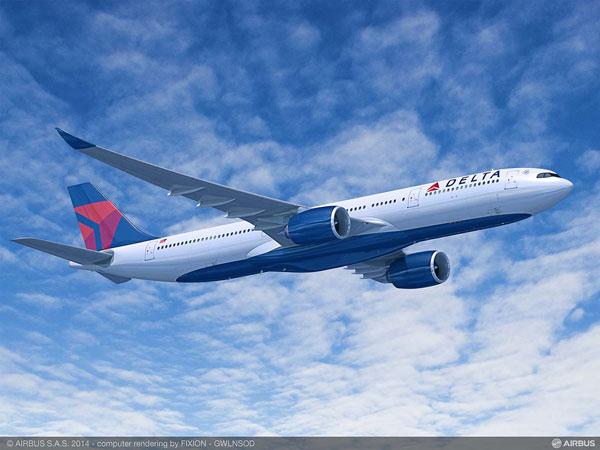 デルタ航空(エアバスA330-900型機)