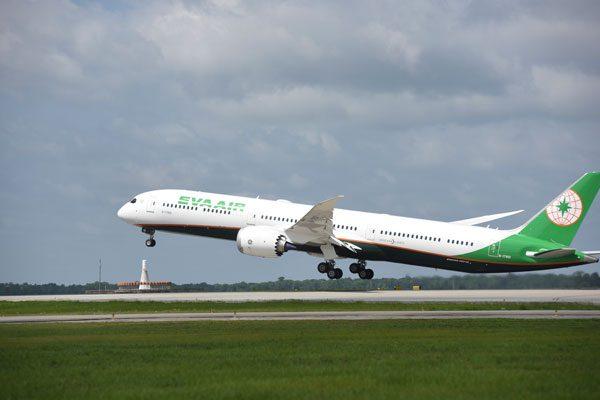 エバー航空(ボーイング787-10型機)