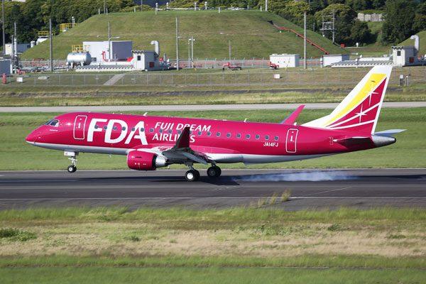 フジドリームエアラインズ(エンブラエル175型機、提供:FDA)