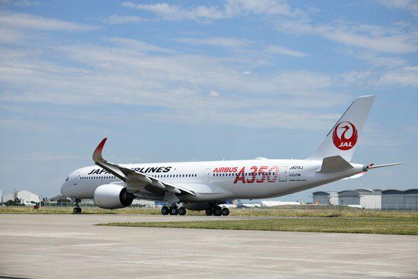 JAL(エアバスA350-900型機)