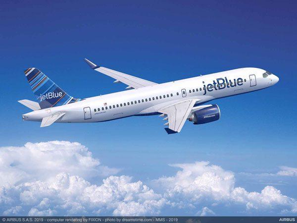 ジェットブルー航空(エアバスA220-300型機)