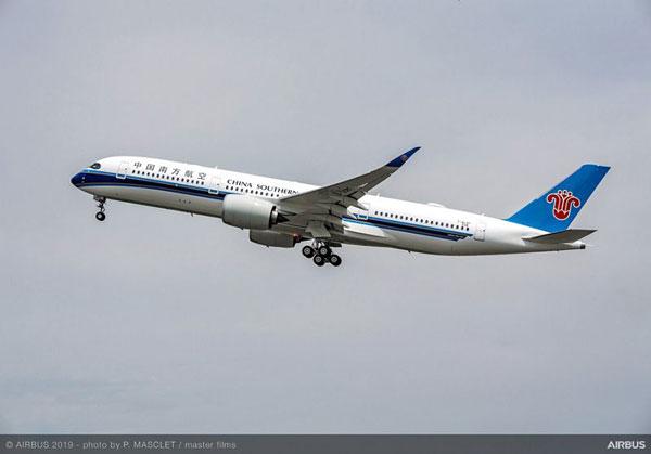 中国南方航空(エアバスA350-900型機)