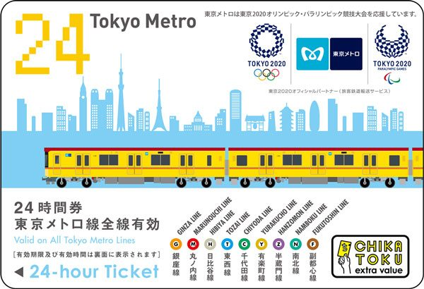 東京メトロ24時間券(前売り券)