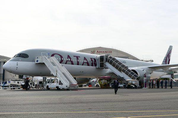 カタール航空(エアバスA350-1000型機)