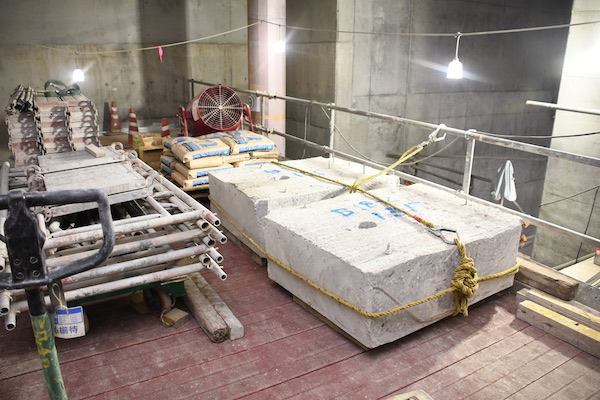 B1F既存トンネル側壁