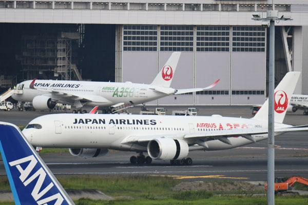 JAL(エアバスA350-900型機、1号機と3号機)