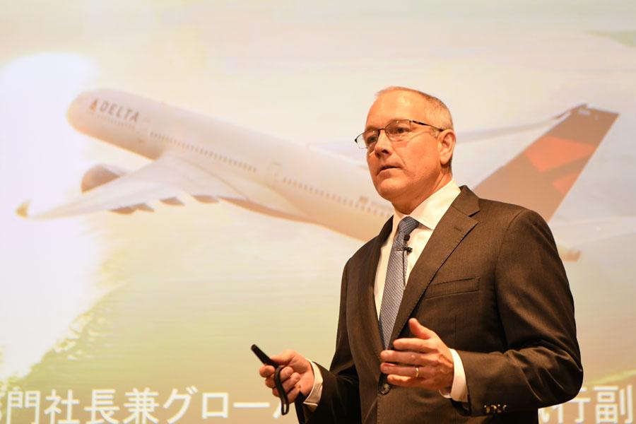 デルタ航空、スティーブ・シアー国際事業部門社長兼グローバルセールス執行副社長