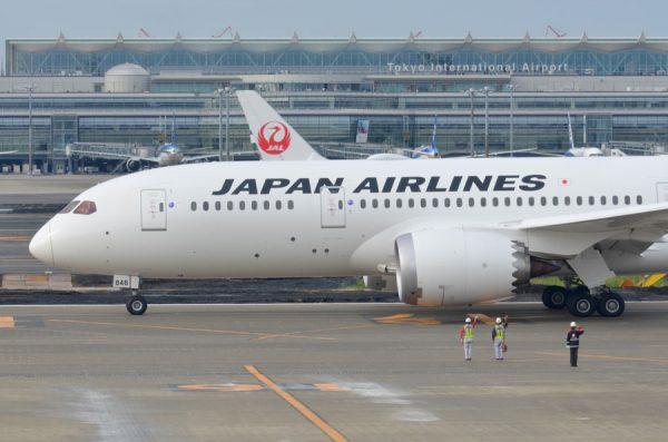 日本航空(JAL、ボーイング787-8型機)