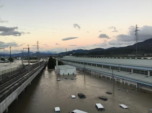 ①北陸新幹線 長野新幹線車両センター浸水