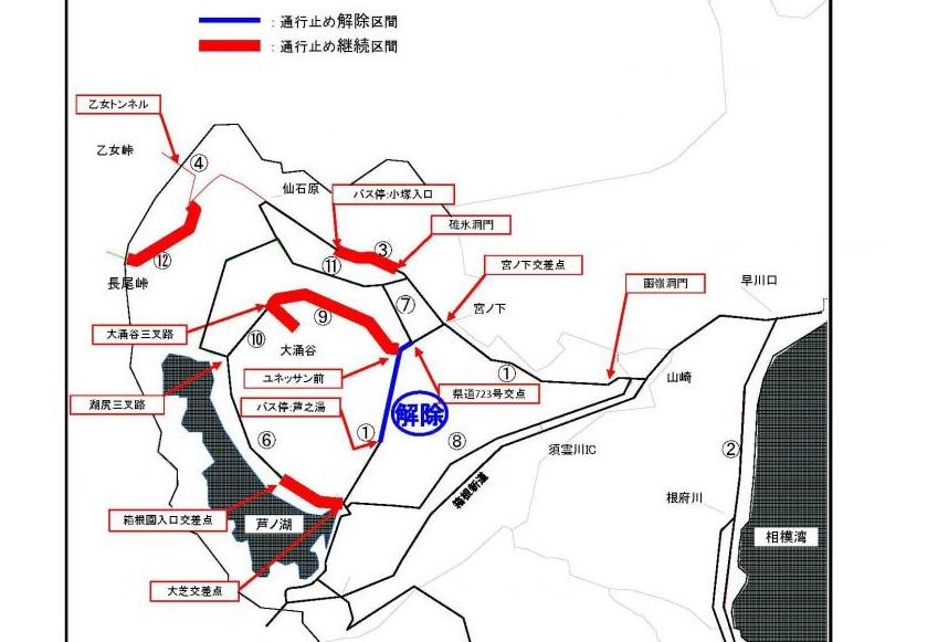 箱根エリア 道路規制