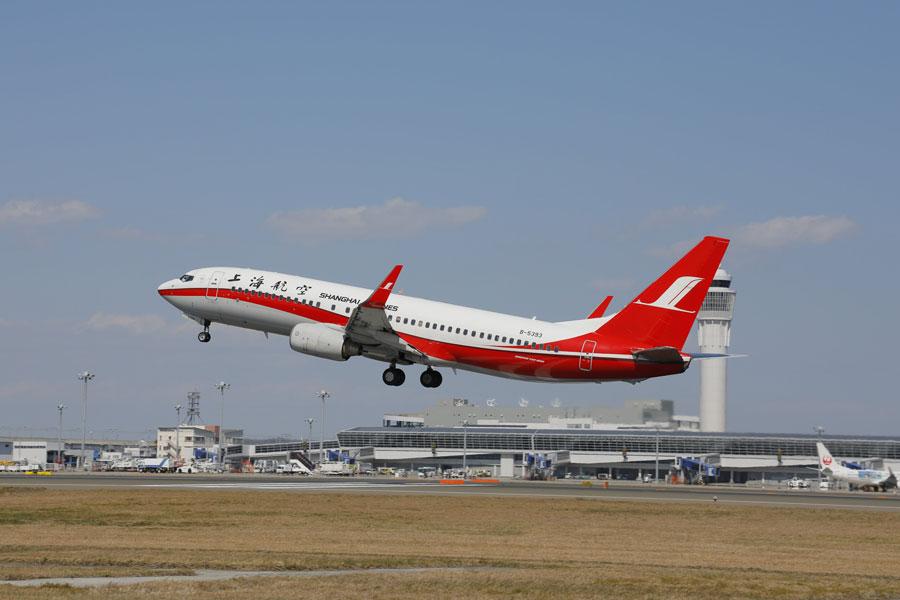 上海航空(ボーイング737-800型機)