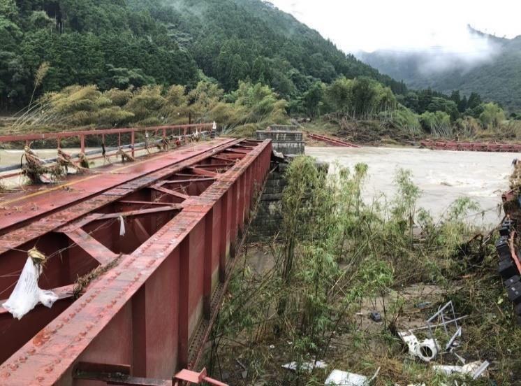 那良口~渡駅間「第二球磨川橋りょう」
