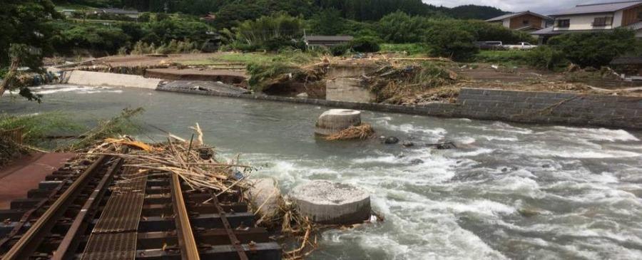 豊後中村~野矢駅間 第二野上川橋りょう