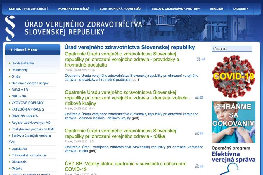 スロバキア公衆衛生局