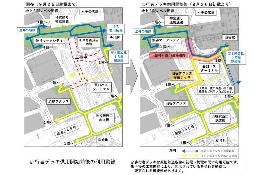 渋谷歩行者デッキ