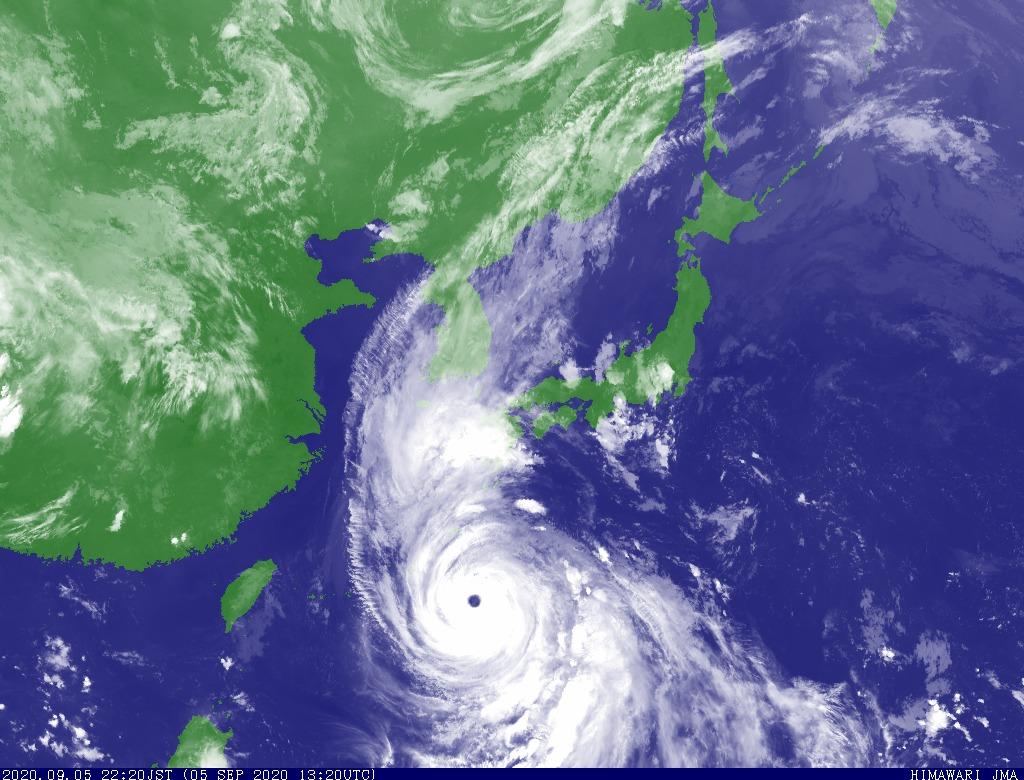 気象衛星(赤外画像)5日午後10時20分