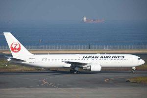 JAL(ボーイング767-300型機、JA615J)