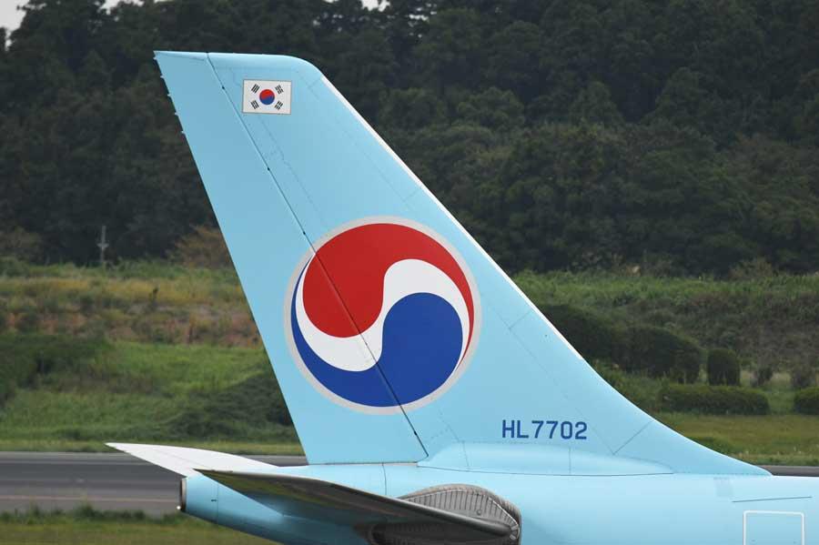 大韓航空(エアバスA330-300型機、HL7702)