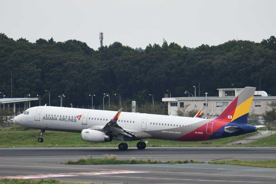 アシアナ航空(エアバスA321型機、HL8018)