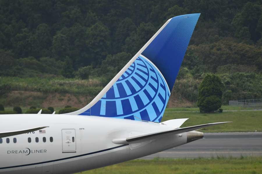ユナイテッド航空(ボーイング787-10型機)