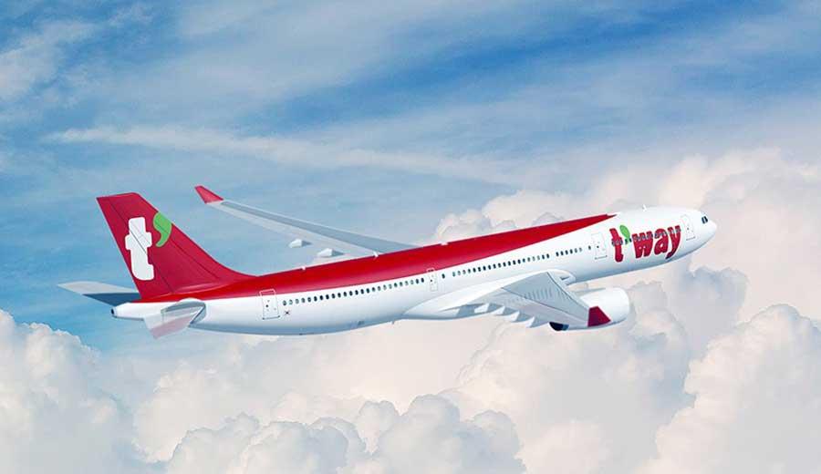 ティーウェイ航空(エアバスA330-300型機)