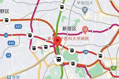 googleマップ 列車位置情報