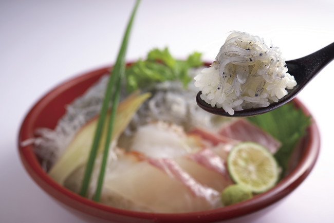 淡路島の生しらす海鮮丼