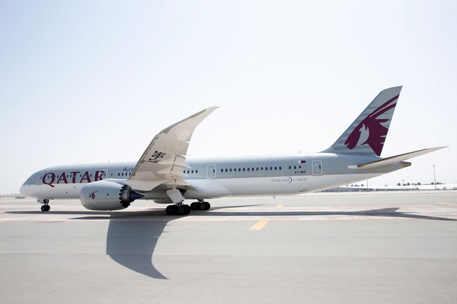 カタール航空(ボーイング787-9型機)