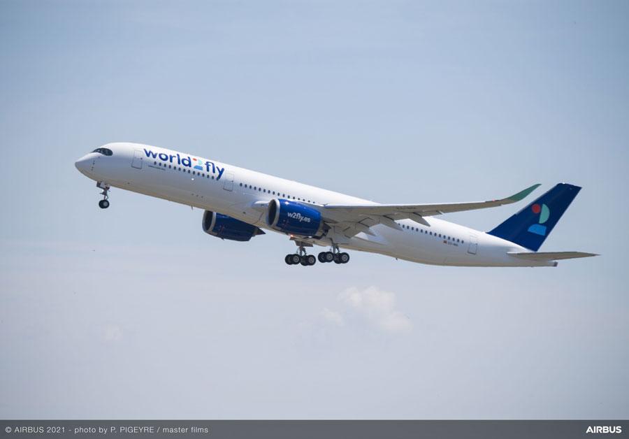 world2fly(エアバスA350-900型機)