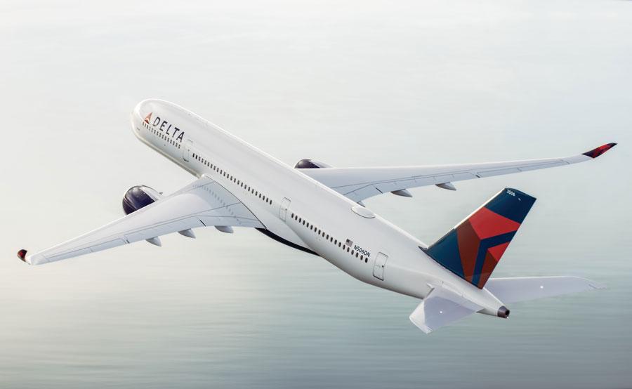 デルタ航空(エアバスA350-900型機)