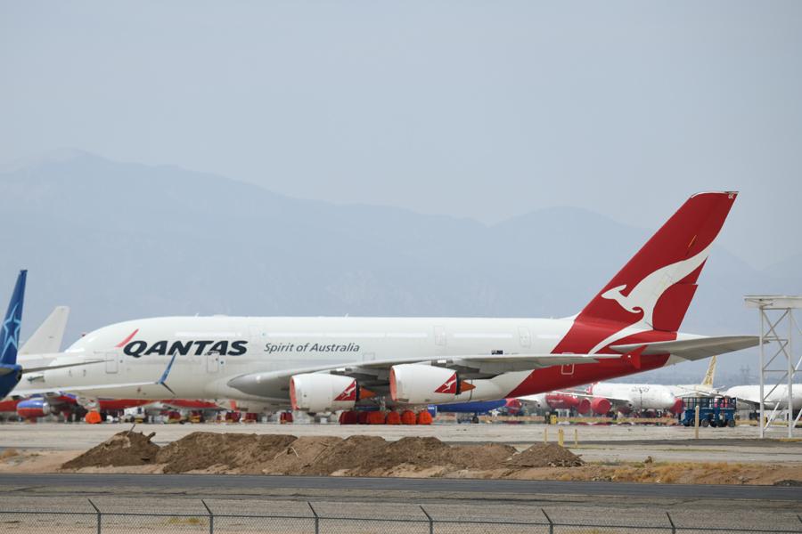 カンタス航空(エアバスA380型機、ヴィクターヴィル)