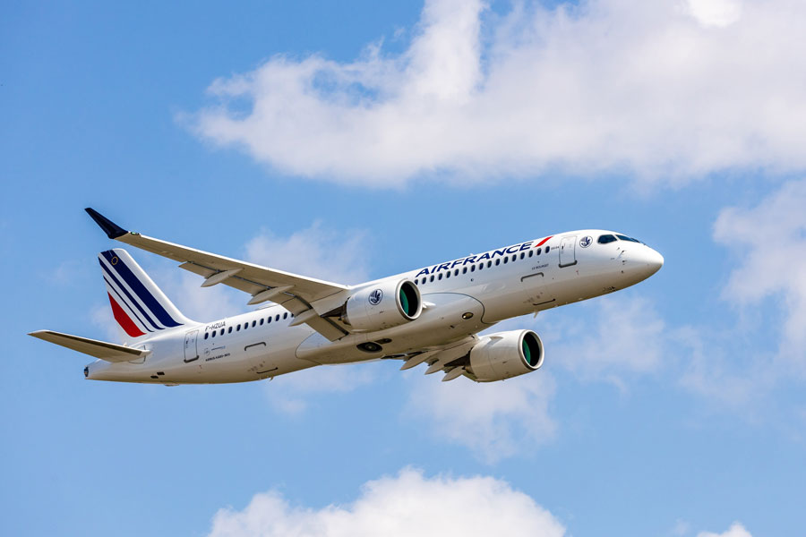 エールフランス航空(エアバスA220-300型機)
